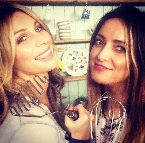 Francesca Newman-Young and sister Olivia film for online cooking show Videojug Food 27 August