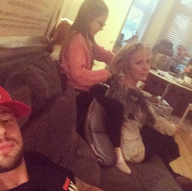 Duncan James spends quality time with daughter Tianie-Finn and his mum after Ant and Dec Saturday Night Takeaway Tour - 26 August 2014