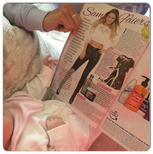 TOWIE's Sam Faiers and niece Nelly read her Reveal column - 26 August 2014