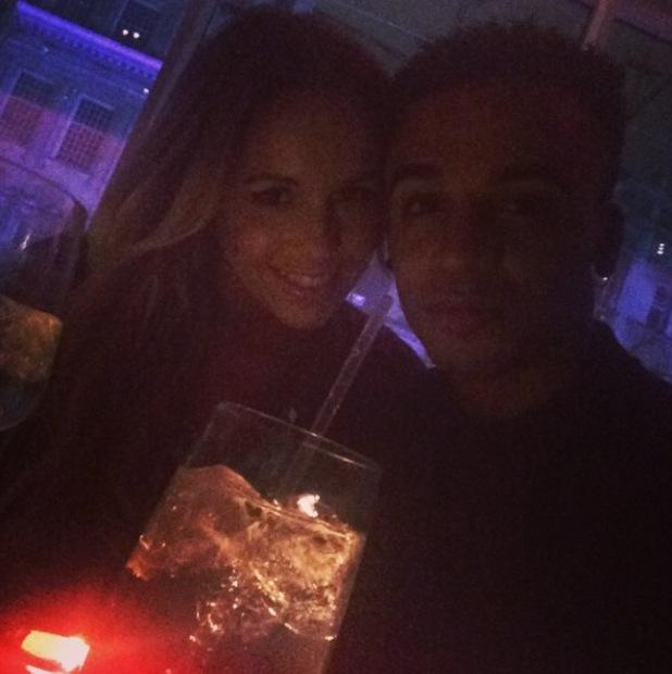 JLS' Aston Merrygold enjoys date night with girlfriend Sarah Richards (28 August).