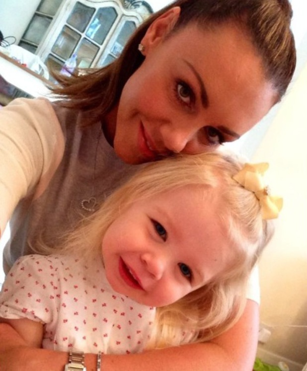 Michelle Heaton's daughter Faith starts pre-school - 26 August 2014