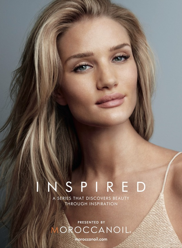 Rosie Huntington-Whiteley poses as the celebrity ambassador for Moroccanoil's Inspired by Women campaign - August 2014
