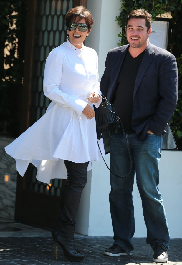 Kris Jenner and Dean Cain seen leaving Cecconi's after having lunch together, 27 August 2014