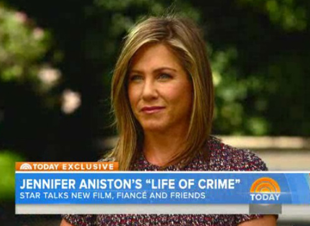 Jennifer Aniston appearing on NBC's Today Show, 27 August 2014