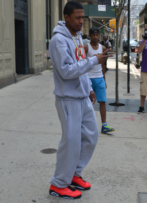 Nick Cannon, who recently confirmed reports that he and wife Mariah Carey, is seen in New York, 26 August 2014