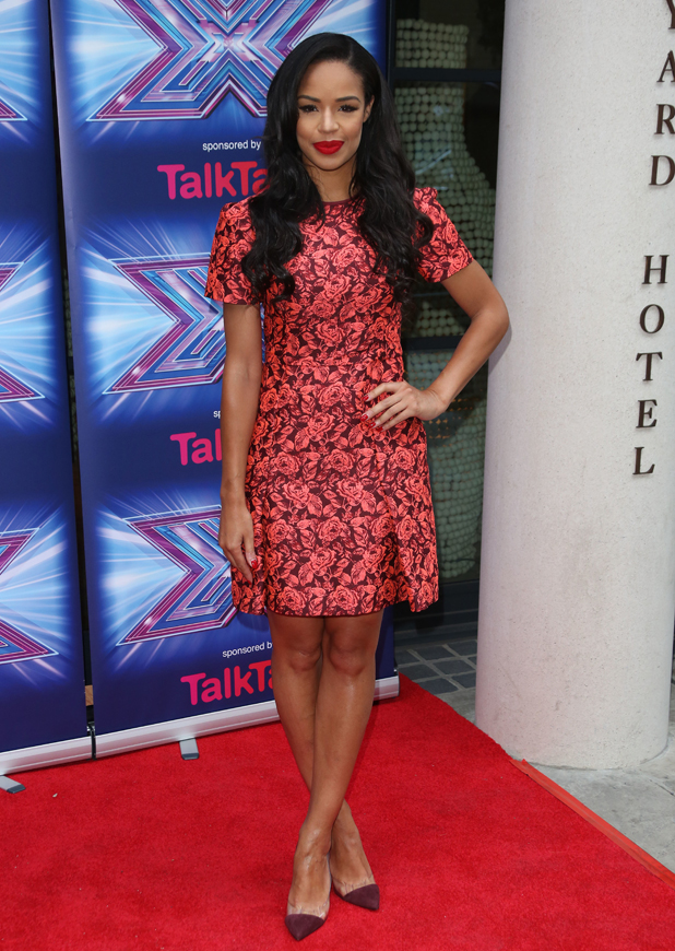 Sarah-Jane Crawford at X Factor Press Launch held at the Ham Yard Hotel - Arrivals, 27 August 2014