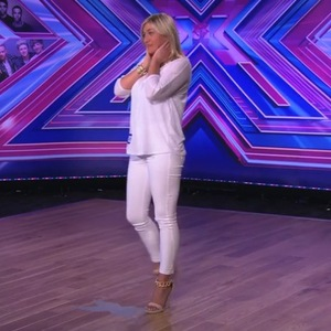 Girl Thing singer Linzi Martin, who took part in the second series of The Big Reunion earlier this year, auditioning for The X Factor on Sunday night's show (31 August),