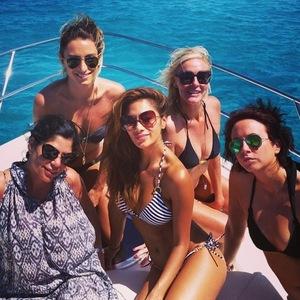 Nicole Scherzinger holidays with girlfriends in Formentera, Ibiza 2 September