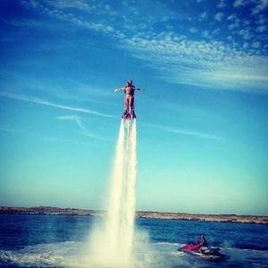 Nicole Scherzinger Flyboarding in Formentera, Ibiza 2 September