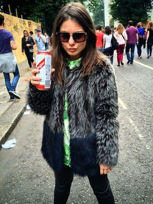 Made In Chelsea's Louise Thompson at the Notting Hill Carnival (posted 28 August).