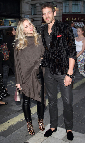 Pregnant Kimberly Wyatt and husband Max Rogers attend 'Lord of the Dance: Dangerous Games' - Gala night at the London Palladium - Arrivals 09/03/2014 London, United Kingdom