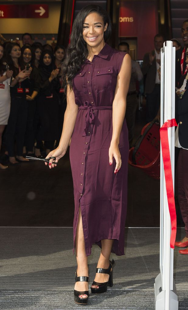 Sarah-Jane Crawford attends the opening of the new TK Maxx store in Westfield Stratford City - London, England - 4 September 2014