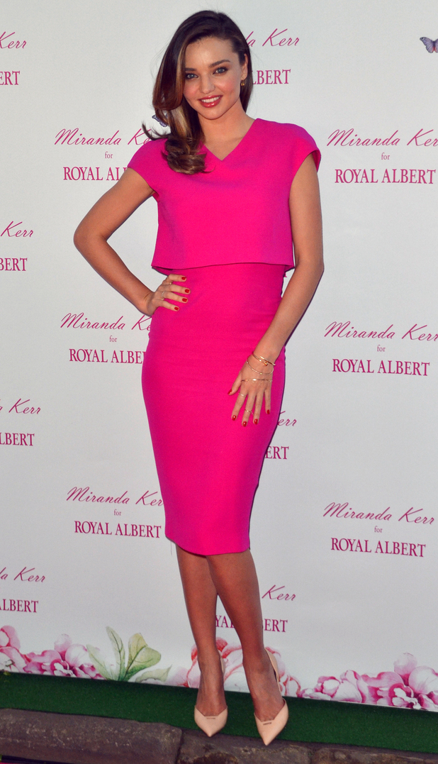 Miranda Kerr steps out for the launch of her china collection with Royal Albert in Sydney, Australia - 16 May 2014