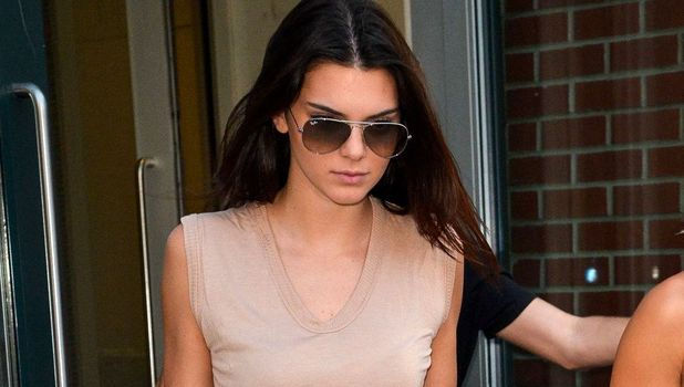 Kendall Jenner wears jeans and a T-shirt while out in New York, America - 1 September 2014