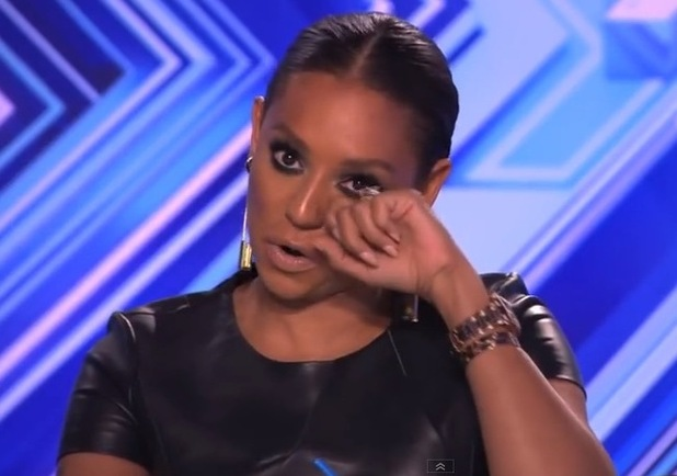 Mel B cries during Jay James Picton's audition - 30 September 2014