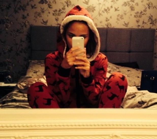 Jacqueline Jossa hides her baby bump under a onesie - 4 September 2014