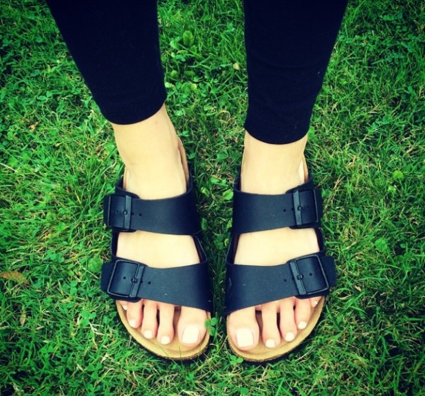 Mollie King wears her Birkenstocks, 2.9.14