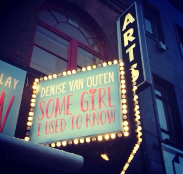 Denise Van Outen shares pic of theatre for her Some Girl I Used To Know show. Sep 2014