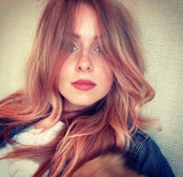 Diana Vickers' hair turns peach! 4 September 2014