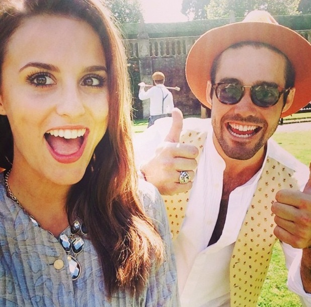 Lucy and Spencer join MIC cast for croquet, London 2 September