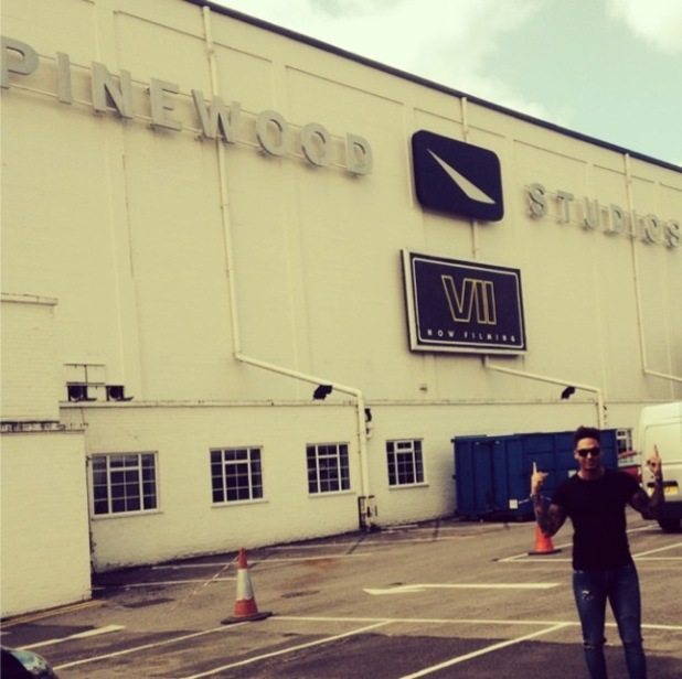 Mario Falcone pictured outside Pinewood Studios - 3 September 2014