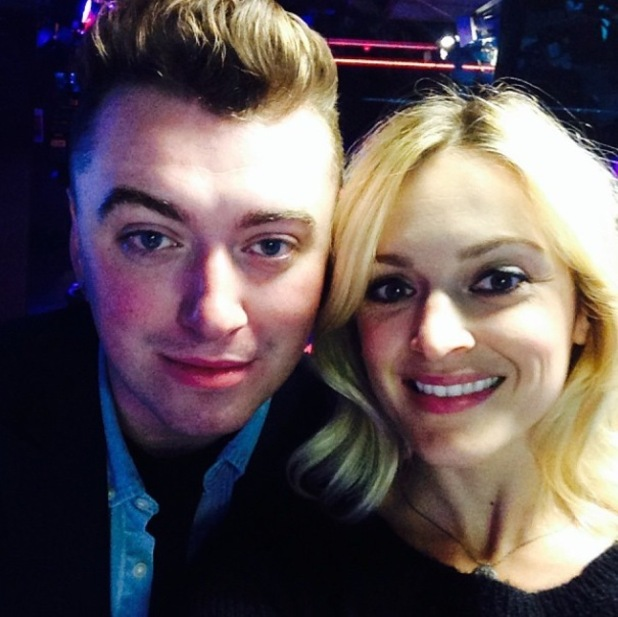 Fearne Cotton wears sparkly shoes to celebrate her 33rd birthday, meets Sam Smith at Radio 1 - 3 September 2014