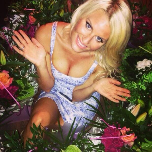 TOWIE's Danielle Armstrong surrounds herself with flowers while on holiday in Turkey with James Lock - 2 September 2014