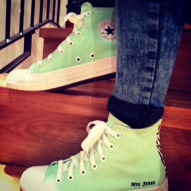 Georgia Horsley shows off new personalised Converse from husband Danny Jones (1 September).