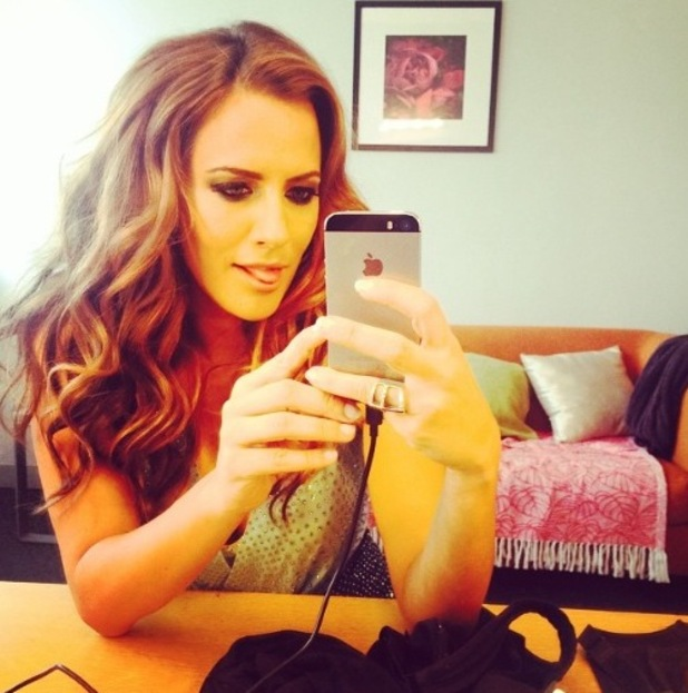 Caroline Flack posts selfie as countdown to Strictly Come Dancing begins (2 September).