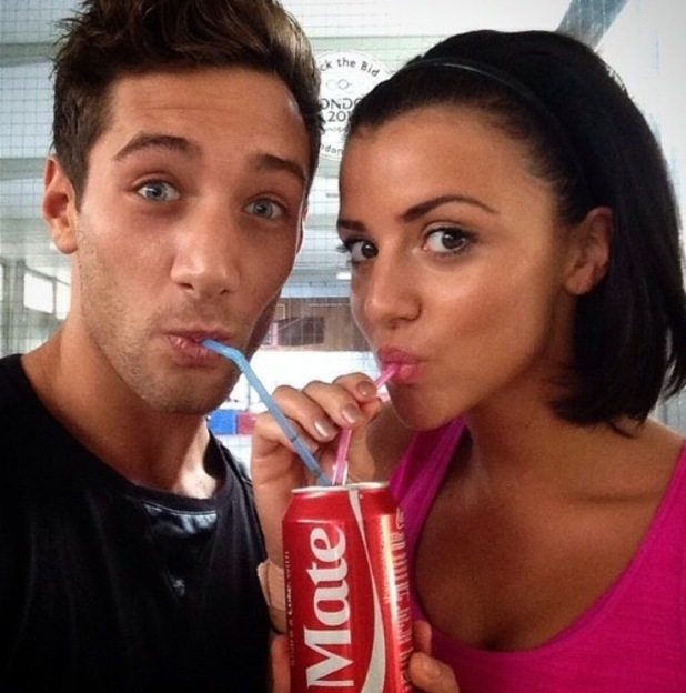 Tumble's Lucy Mecklenburgh shares a Coke with professional partner Billy George - 4 September 2014