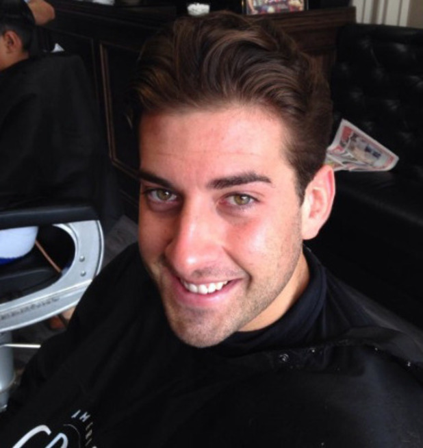 TOWIE's James 'Arg' Argent all smiles at barbers after police manhunt - 1 September 2014