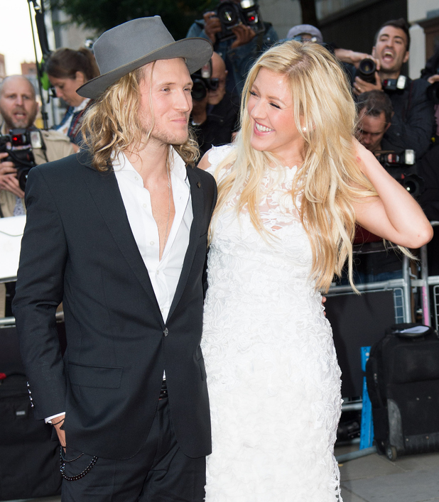 Ellie Goulding and Dougie Poynter attend the GQ men of the year awards at The Royal Opera House on September 2, 2014 in London, England. (Photo by Samir Hussein/WireImage)
