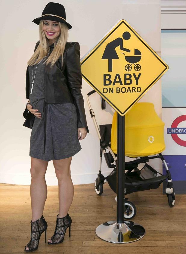 Kimberly Wyatt shows off baby bump at Bugaboo Bee3 launch, London, 2 September 2014