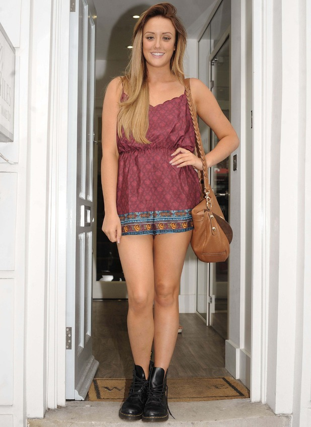 Geordie Shore's Charlotte Crosby at Tracie Giles Salon, Knightsbridge, London, Britain - 03 Sep 2014