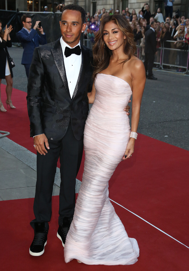 Lewis Hamilton and Nicole Scherzinger, The GQ Awards 2014 held at the Royal Opera House - Arrivals, 2 September 2014