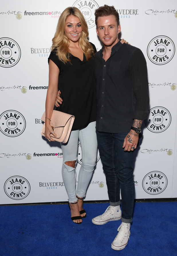 Georgia Horsley and Danny Jones attend Jeans for Genes Day 2014 Launch Party, held at Chinawhite - 09/02/2014.
