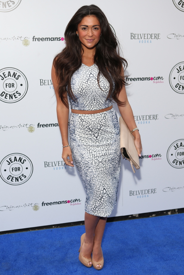 Casey Batchelor attends the Jeans for Genes 2014 party held at Chinawhite in London, England - 2 September 2014
