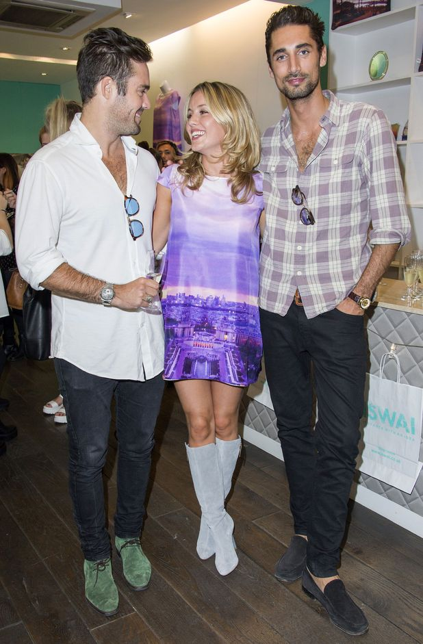Spencer Matthews and Hugo Taylor at Caggie Dunlop's It Starts With An Idea (ISWAI) pop-up shop launch, London, Britain - 03 Sep 2014
