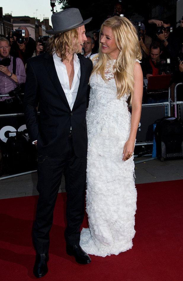 Ellie Goulding and Dougie Poynter attend the GQ men of the year awards at The Royal Opera House on September 2, 2014 in London, England. (Photo by Ben Pruchnie/FilmMagic)