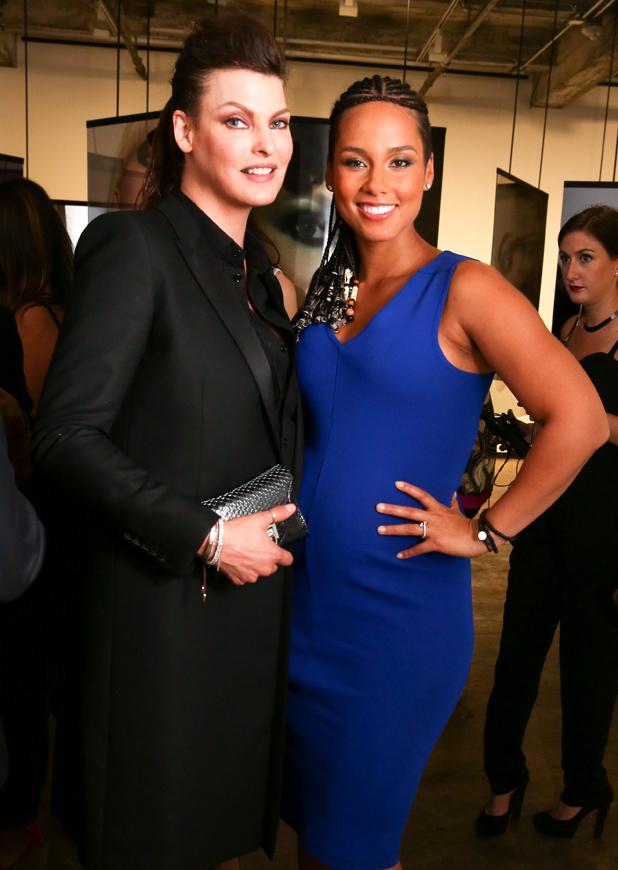 Alicia Keys and Linda Evangelista at Nars 20th Anniversary celebration, Maccarone Gallery, New York, America - 04 Sep 2014