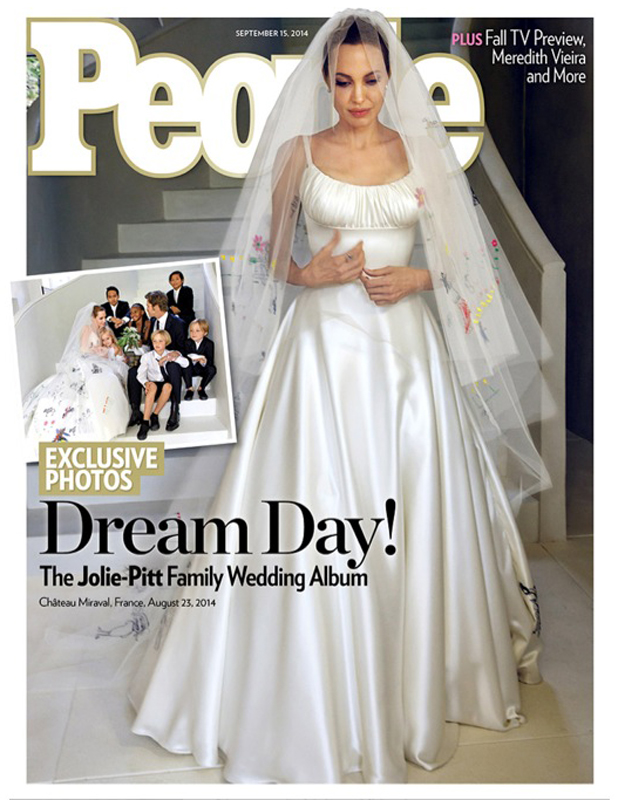 Cover of People magazine issue on Brad Pitt, Angelina Jolie's wedding, 2 September 2014