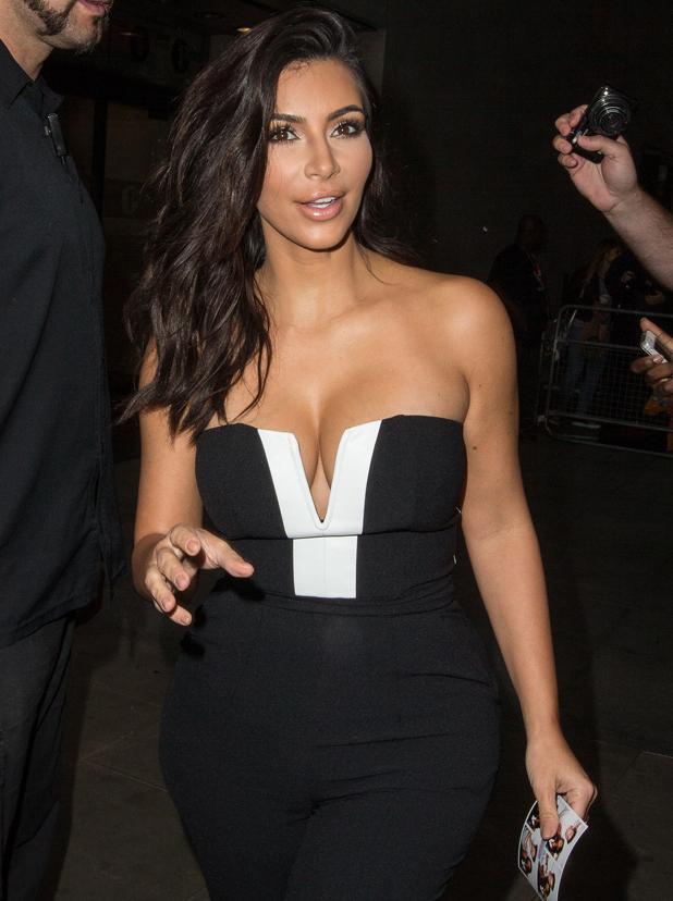 Kim Kardashian outside BBC Radio 1 studios in London, 3 September 2014
