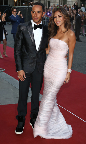 Nicole Scherzinger and Lewis Hamilton, GQ Men of the Year Awards held at the Royal Opera House, 2 September 2014