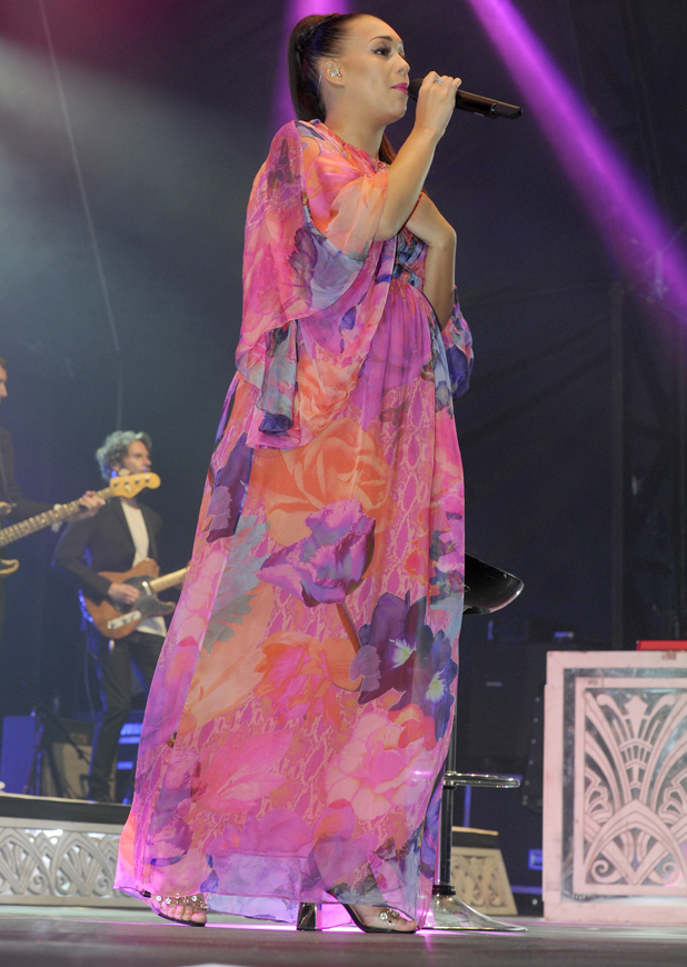 Rebecca Ferguson at Blackpool Illuminations concert, Blackpool, Britain - 31 Aug 2014