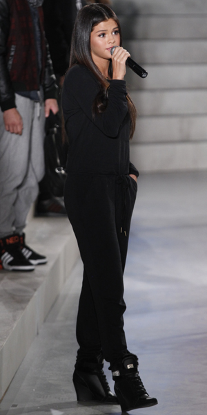 Selena Gomez at Adidas Neo during Mercedes-Benz Fashion Week Spring 2015 at The Waterfront on September 3, 2014 in New York City.