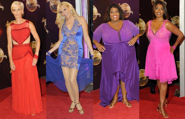 Strictly Come Dancing 2014 launch night at Elstree Studios: Judy Murray, Suneta Sarker, Alison Hammond, Jennifer Gibney