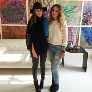 Made In Chelsea: New York's Billie Carroll hanging out with Rosie Fortescue in London (7 September).