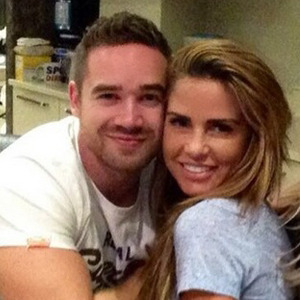 Katie Price cuddles up to Kieran Hayler while celebrating Emma B's birthday, 6 September 2014