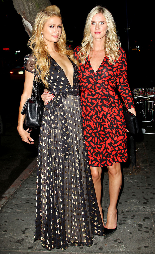 Paris Hilton and Nicky Hilton arrive at Barnes & Noble for a book signing - New York, America - 9 September 2014