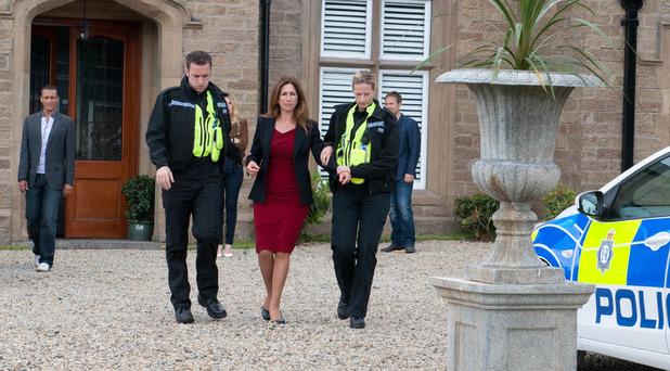 Emmerdale, Megan arrested, Mon 15 Sep